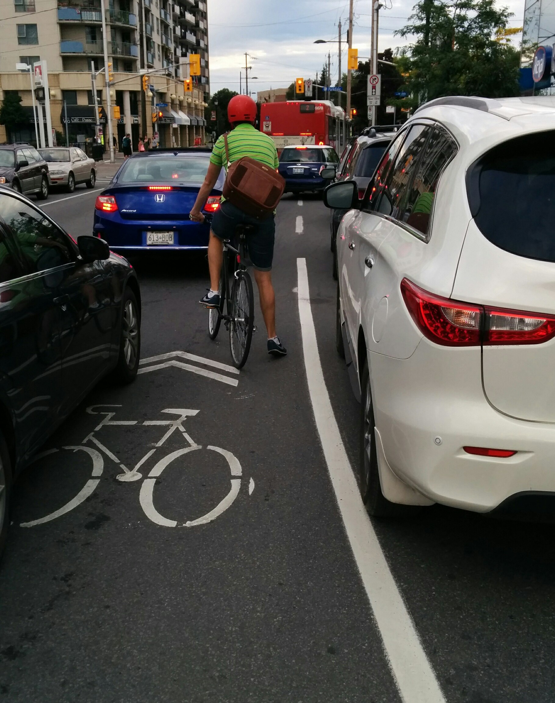 As you can see the area is very congested during rush hour forcing cars bikes buses and trucks to all share a narrow roadway. & Anatomy of A Near-Dooring (part 1) u2013 The Ottawa Cyclist